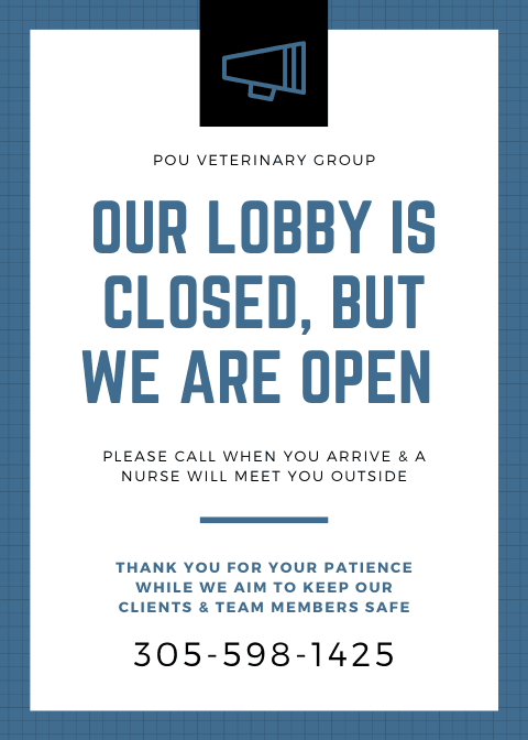 Our lobby is closed, but we are open. Please call 305-598-1425 when you arrive and a nurse will meet you outside. Thank you for your patience while we aim to keep our clients and team members safe.